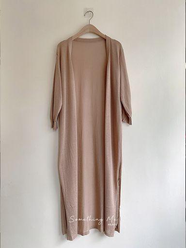 OF210502 半袖長版細柔針織外套 4色