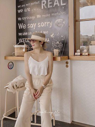 AF210511 竹藤編織平頂草帽 2色