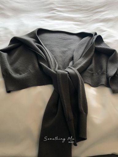 AF210901 素色針織披肩 9色