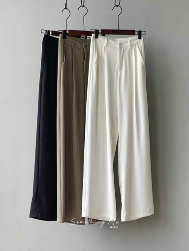 BF210405 時髦高腰微鬆落地寬褲 3色