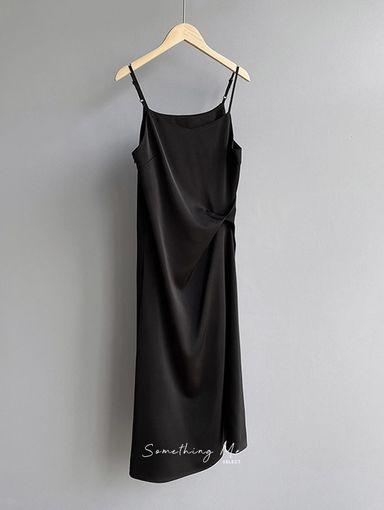 JE210402 氣質顯瘦吊帶連身洋 3色