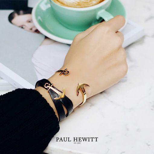 PH-CU-G (出清不退換)Paul Hewitt 手環 - Ancuff 船錨系列不鏽鋼C字手環 (金