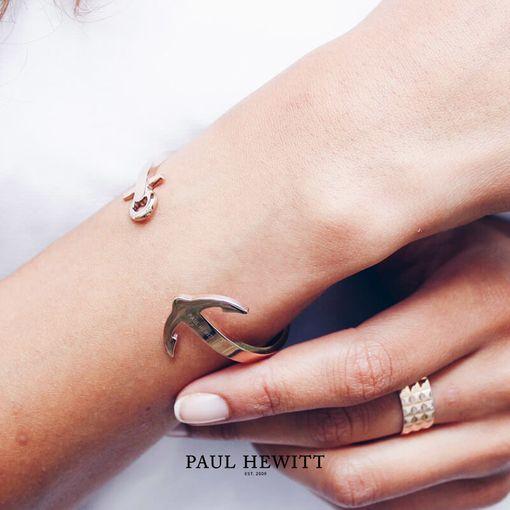 PH-CU-R Paul Hewitt 手環 - Ancuff 船錨系列不鏽鋼C字手環 (玫瑰金)