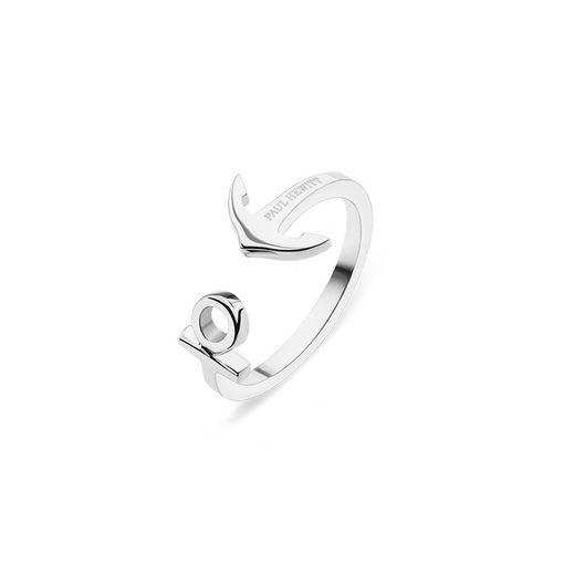 PH-FR-ARI-S (出清不退換)Paul Hewitt 戒指 - 經典船錨不鏽鋼戒指(銀色)