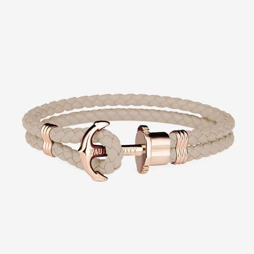 PH-PH-L-R-H Paul Hewitt 手環 - Phreps 經典編織系列手環 (玫瑰金扣/裸色)