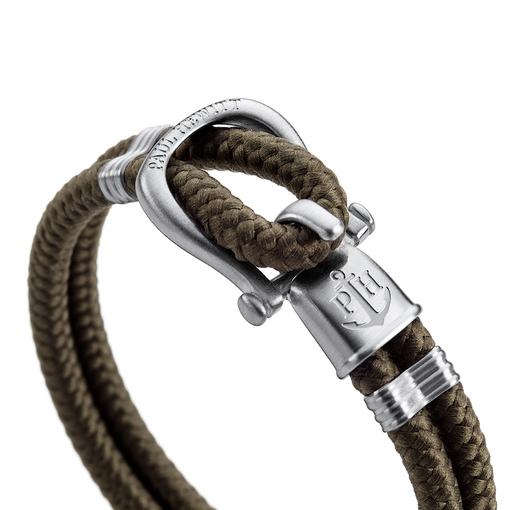 PH-SH-N-S-O (出清不退換)Paul Hewitt 手環 - PHINITY 馬蹄釦編織尼龍系列手環(霧
