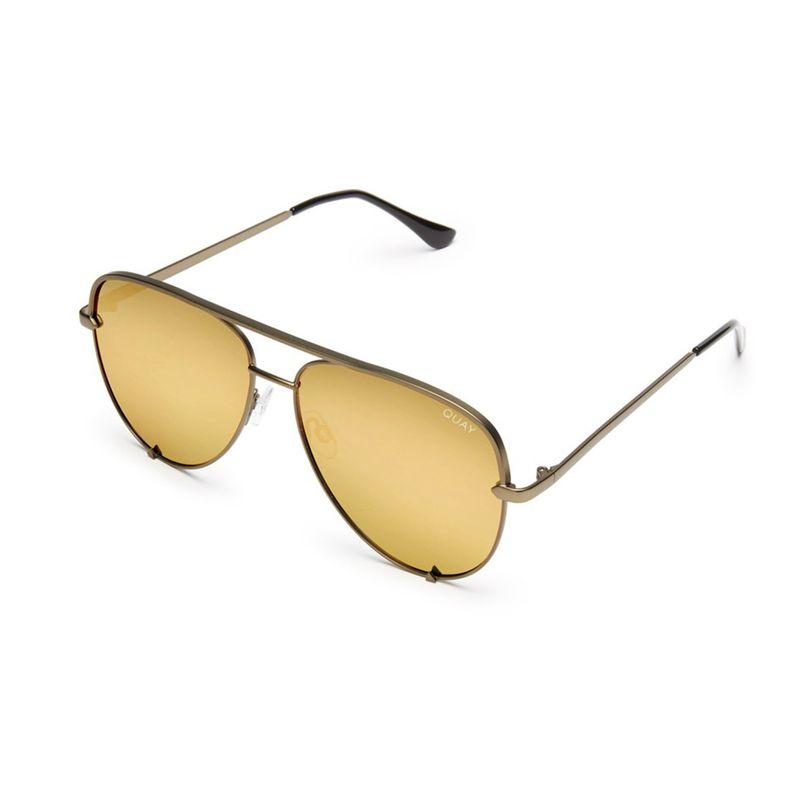 QC-000142-GRN-GLD Quay 太陽眼鏡 - High Key 復古飛行員系列 (復古銅金)