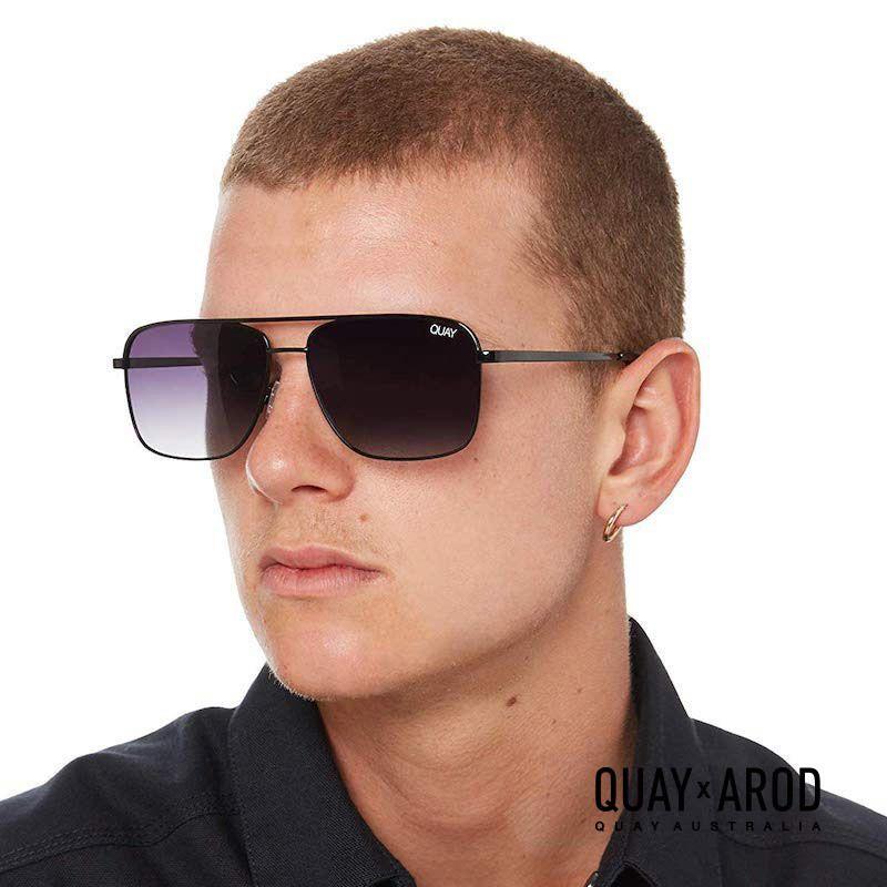 QM-000494-BLK-SMKFD Quay 太陽眼鏡 - PosterBoy AROD聯名款墨鏡 (黑框/漸層黑)