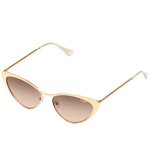 QW-000384-GLD-BRN Quay 太陽眼鏡 - Boss復古貓眼女生墨鏡 (金框/棕色)