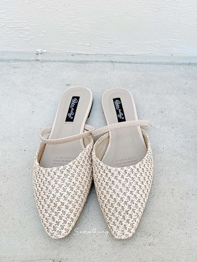 SF210402 夏日法式藤編兩穿平底涼鞋