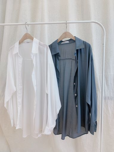 T200525 溫柔飄逸襯衫 2色