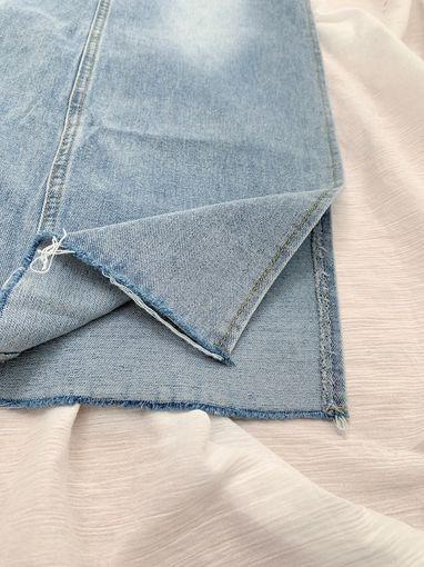 T200635 [出清不退換]美臀側開叉牛仔長裙