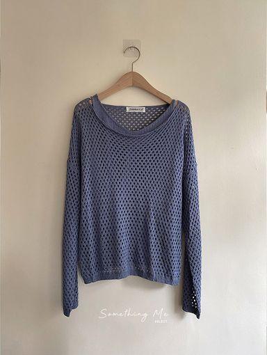 TF210514 (出清不退換)慵懶簍空針織罩衫(含V領針織背心) 3色