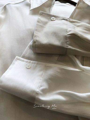 TF210818 天絲棉慵懶長袖襯衫 3色
