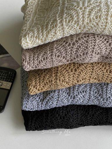 TF211004 法式簍空慵懶針織 5色